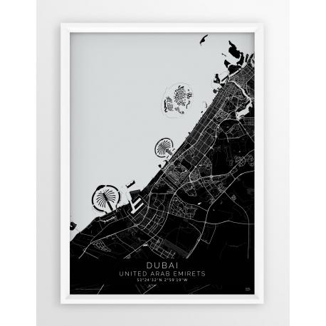 Plakat mapa DUBAI - linia BLACK
