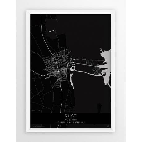 Plakat mapa RUST - linia BLACK