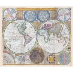 Stara mapa świata (1794r) - reprint