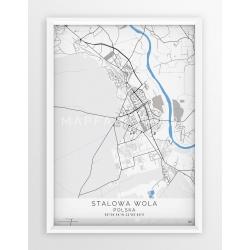 Plakat mapa STALOWA WOLA- linia BLUE
