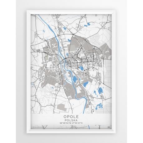 Plakat mapa OPOLE - linia BLUE