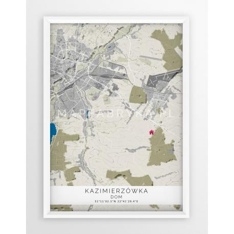 Plakat mapa KAZIMIERZÓWKA - linia SPECIAL