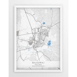 Plakat mapa BIŁGORAJ - linia BLUE