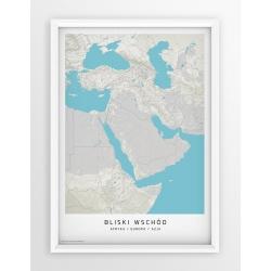 Plakat mapa BLISKI WSCHÓD