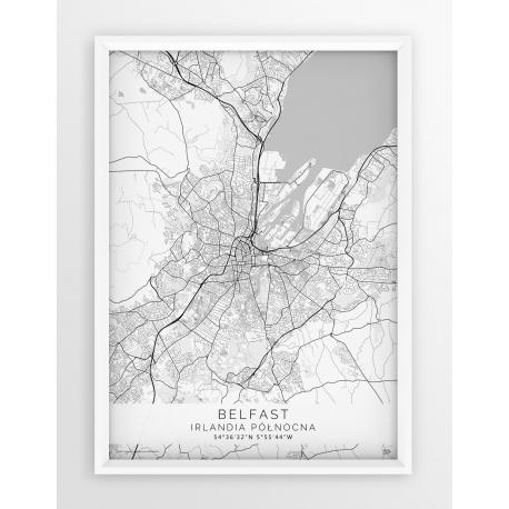 Plakat mapa BELFAST - linia WHITE