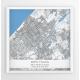 Plakat mapa HAGA - linia BLUE/KWADRAT