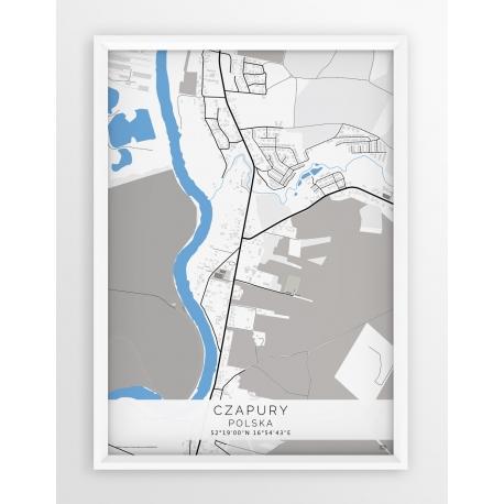 Plakat mapa CZAPURY - linia BLUE
