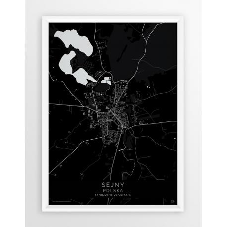 Plakat mapa SEJNY - linia BLACK