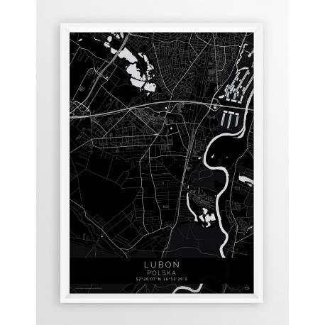 Plakat mapa LUBOŃ - linia BLACK