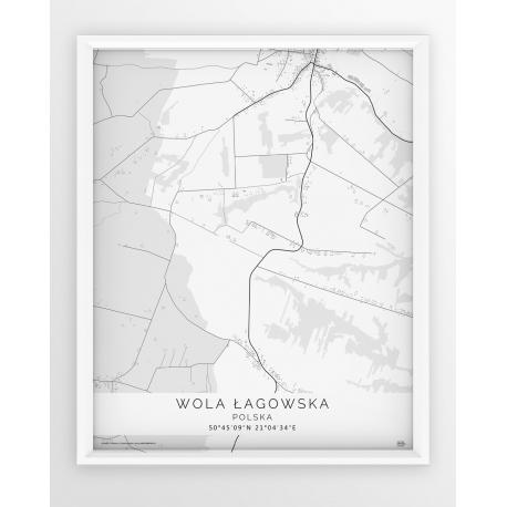 Plakat mapa WOLA ŁAGOWSKA - linia WHITE