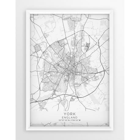 Plakat mapa YORK - linia WHITE