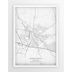 Plakat, mapa WRZEŚNIA - linia WHITE