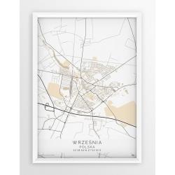 Plakat, mapa WRZEŚNIA - linia BEIGE