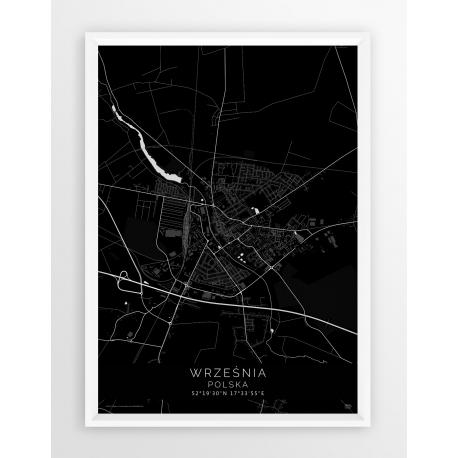 Plakat, mapa WRZEŚNIA - linia BLACK