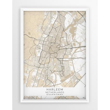 Plakat mapa HARLEEM- linia BEIGE
