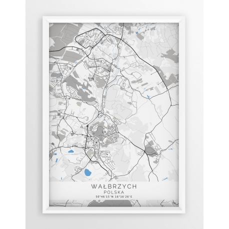 Plakat mapa WAŁBRZYCH - linia BLUE