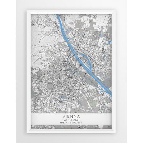 Plakat mapa WIEDEŃ - linia BLUE