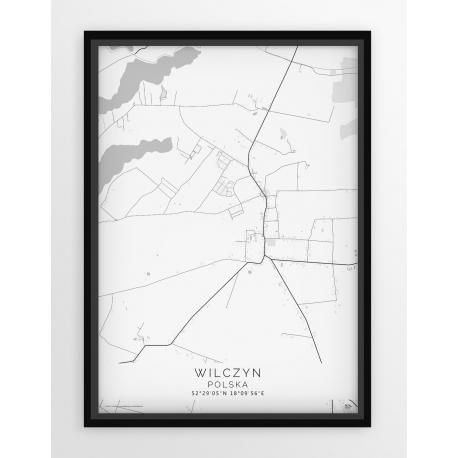 Plakat, mapa WILCZYN - linia WHITE