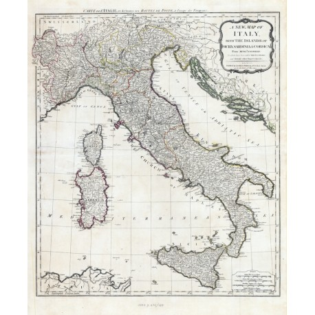 Stara mapa Włochy (1794r) - reprint