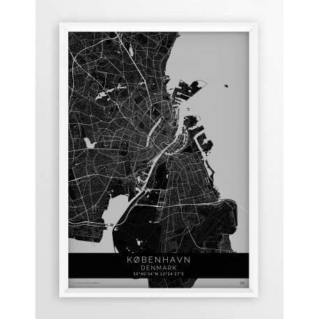 Plakat mapa KOPENHAGA - linia BLACK