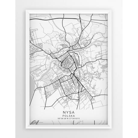 Plakat mapa NYSA - linia WHITE