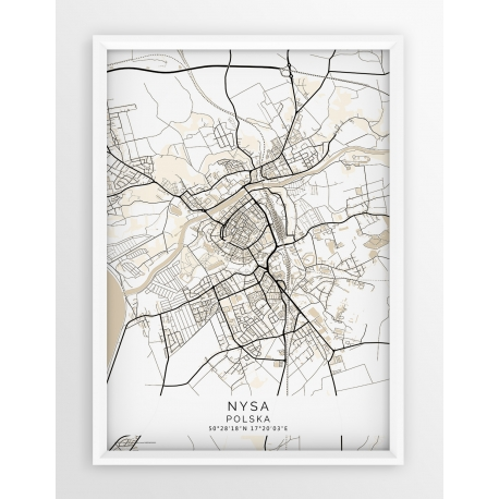 Plakat mapa NYSA - linia BEIGE