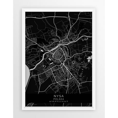 Plakat mapa NYSA - linia  BLACK