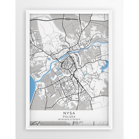 Plakat mapa NYSA - linia BLUE/GRAY
