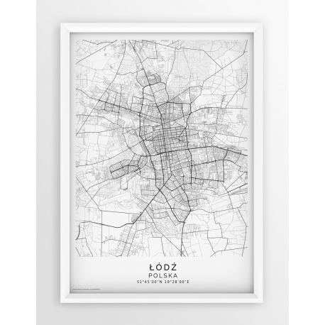 Plakat, mapa ŁÓDŹ - linia PASSE-PARTOUT