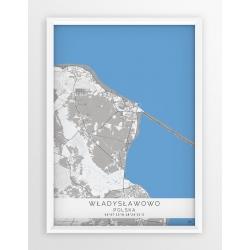 Plakat mapa WŁADYSŁAWOWO - linia BLUE
