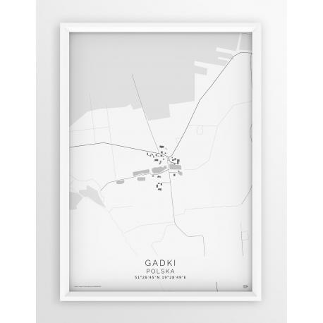 Plakat mapa GADKI - linia WHITE