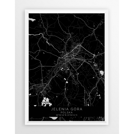 Plakat, mapa jELENIA GÓRA - linia BLACK