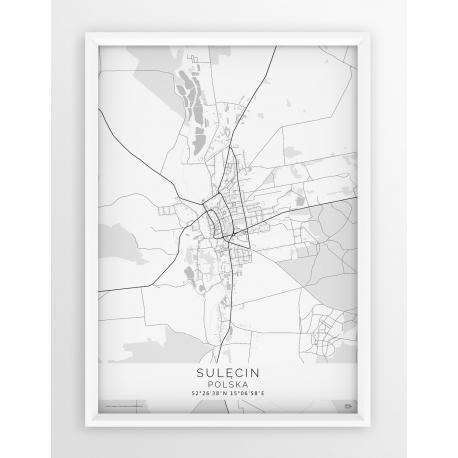 Plakat mapa SULĘCIN - linia WHITE