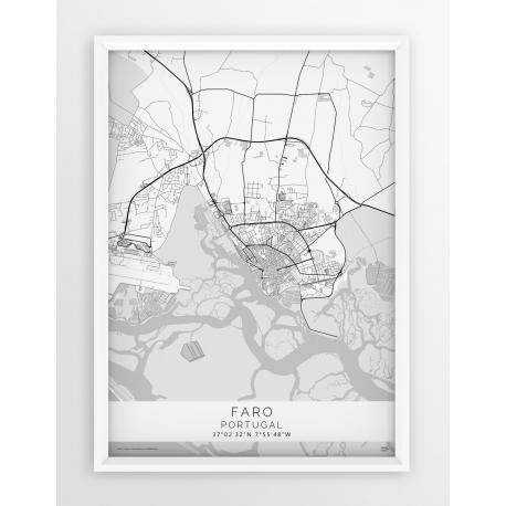 Mapa plakat FARO - Linia White