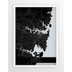 Mapa plakat SYDNEY - linia BLACK