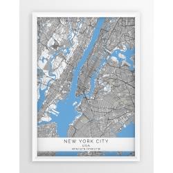 Mapa plakat NOWY JORK- linia BLUE/GRAY
