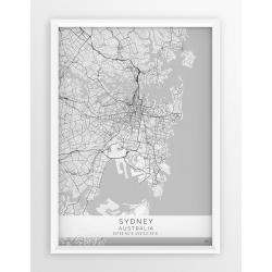 Mapa plakat SYDNEY - linia WHITE