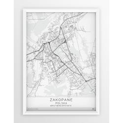 Mapa plakat ZAKOPANE - linia WHITE