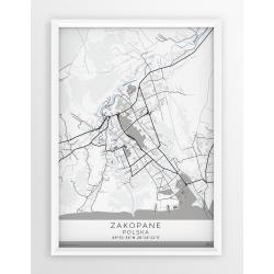 Mapa plakat ZAKOPANE - linia GRAY/BLUE