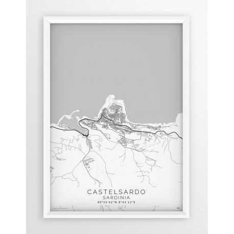 Mapa plakat CASTELRADO - Linia White