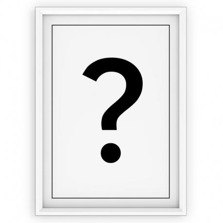 Plakat typograficzny ZNAK ZAPYTANIA - linia WHITE