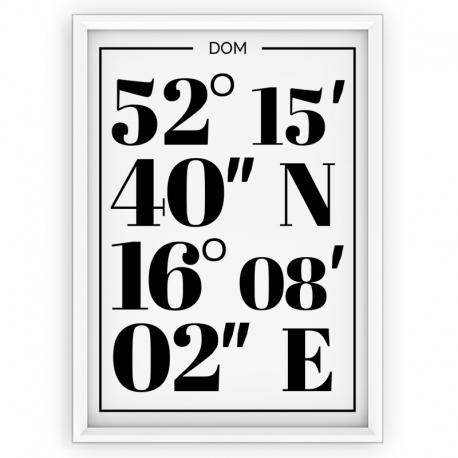 Plakat typograficzny DOWOLNE MIEJSCE - linia WHITE