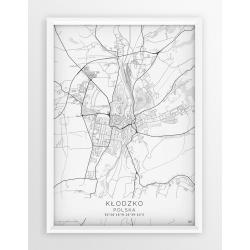 Plakat mapa KŁODZKO - linia WHITE
