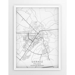 Mapa plakat SIERADZ - linia WHITE